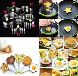 2019 atacadores de ovos Aço inoxidável Frito Ovo Shaper Pancake Mould Mold Cozinha Cozinhar Ferramentas de Cozinha Ovo Frito Shaper Anel Pancake Mould dc426