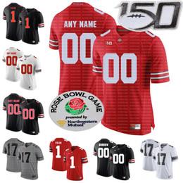 camiseta estatal de ohio personalizada Rebajas Custom NCAA 150TH Ohio State Buckeyes Fields Garrett Wilson 14 KJ Hill Jr. 17 Chris Olave 80 CJ Saunders Cualquier nombre Número OSU College Jersey