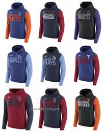 Canada Hommes Mets Sox Rouges Orioles Athlétisme Indiens Rocheuses Royals Rayons Rangers Royal Club Pull En Molleton À Capuche Offre