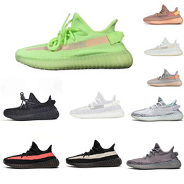 spring green lawn Promo Codes - Designer Women Shoes V2 Clay True Form Zebra White Static Reflective Zapatos Casual Shoes Kanye West Triple Men Running Sneaker With Box