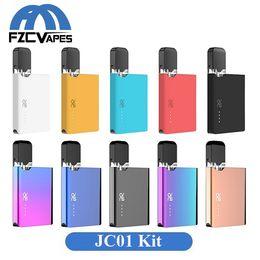 2019 vaporizador cloutank m3 kit Auténtico OVNS JC01 Starter Kit 400mAh Lipo Vape Pod Vaporizador con cartucho de 0,7 ml para aceite grueso JUL E Cigarette