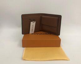дизайнер мужские кожаные сумки Скидка 2019 стиль дизайнер мужской кошелек известный мужской бренд кошелек специальный кожаный несколько короткий маленький кошелек с коробкой мешок пыли мешок карты