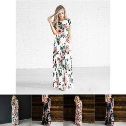 5 colori maternità vestiti incinte floreali stampati donne spiaggia bohemien lunga spiaggia abito vintage abiti lunghi abiti estivi donne FJ176 da