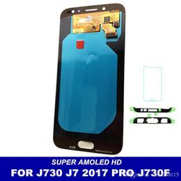 reparación de la pantalla del borde s6 Rebajas Reemplazo de LCD para Samsung Galaxy J7 Pro 2017 J730 J730F Pantalla LCD Pantalla táctil Digitalizador Asamblea Ajuste de brillo envío gratis
