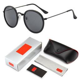 3448 Clássico Rodada Óculos De Sol Das Mulheres homens marca feminina Armações de Metal Óculos de Sol Para as mulheres retro Masculino retro de sol Com Logotipo e Caixa de Fornecedores de acessórios mercedes benz