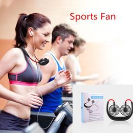 Canada Nouveau portable portable à deux têtes petit ventilateur SUB cou de charge suspendus ventilateur de sports de plein air ventilateur de mode Mini Offre