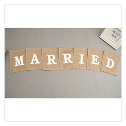 2019 konfetti silber großhandel Leinen Fahnen Square Banner Party Supplies romantische Hochzeitsdekoration schaffen tiefe Erinnerungen wichtiger Moment Hochzeitsdekoration