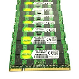 2gb barato on-line-RAMs baratos Kinlstuo Novas RAMs DDR2 2 GB 800 MHz PC 6400 memória 200pin SODIMM ddr2 2gb 667 MHz PC5300 compatível total para laptop