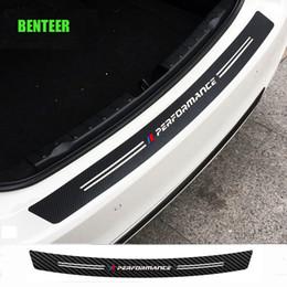autoadesivi dell'automobile del gattino Sconti adesivo auto M paraurti posteriore in carbonio prestazioni di potenza in fibra per BMW E34 E36 E60 E90 E46 E39 E70 F10 F20 F30 X5 X6