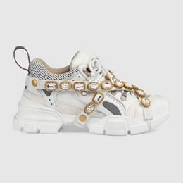 atadura de diamante Desconto calçados casuais 2019 Novos produtos Designer de moda de couro bandagem homens e mulheres calçados esportivos mulheres mens diamantes sapatos 42 45
