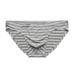 d108f7c854d5 Sexy Underwear Men Briefs Shorts Thin Ice Silk Low Waist Panties Man  Breathable U Convex Pouch Seamless Underpants Cueca M-XXL