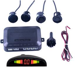 honda civic lettore mp3 Sconti Display a LED Sensore di parcheggio per auto a 4 sensori Rilevatore di retromarcia Radar Backup sensore parktronic dvd per auto