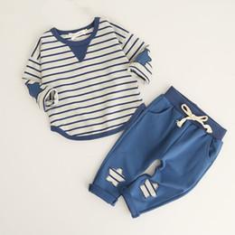 Argentina Trajes de niñas Bebé Raya 2pcs Conjuntos de ropa Camiseta + Pantalones Trajes casuales Ropa de diseñador Ropa de deporte bebé chándal niños boutique de ropa cheap tshirt baby girl Suministro