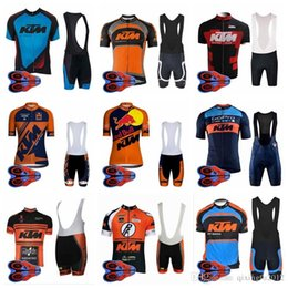 2019 usura ciclica 2018 New Cycling Jersey Set For Men Pro Team Ktm Summer Ropa Ciclismo Mountain Bike Abbigliamento da Ciclismo Abbigliamento da Corsa Bici H1406f usura ciclica economici