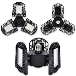 Яркая светодиодная панель онлайн-Светодиодные гаражные фонари, 60Вт E27 6000LM деформируемый потолочный светильник для всей площади, ультра-яркие горные лампы с 3-мя регулируемыми панелями, светодиодная подсветка