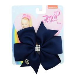 2019 rose hairband 11CM JoJo arc enfants Accessoires pour cheveux bébé en épingle à cheveux Fille cadeau main queue de poisson coupé ruban côtelé arc en queue de poisson noeud en épingle à cheveux coiffure