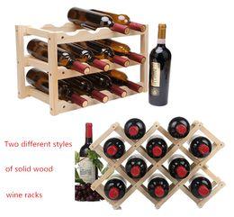 étagère à bouteilles Promotion Casier à vin en bois rouge 10/12 porte-bouteilles Support barre de présentoir pliant Casier à vin en bois alcool Neer Care Porte-bouteilles