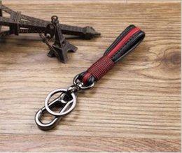 mazda remote covers Desconto cadeia de couro pendurado cintura masculina original handmade ferradura fivela carro chave do carro de couro chaveiro pingente