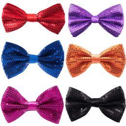Argentina Ventas al por mayor- Lentejuelas Corbatas de lazo para el desgaste del banquete de boda Moda hombre y mujeres Corbatas de lazo Corbatas Corbatas Los niños realizan Bowties Suministro