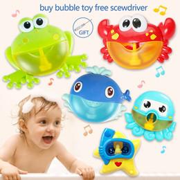 Dropship New Bubble Crabs Bagno Giocattolo per bambini con ventosa Maker Musica Bagno Doccia Piscina Vasca da bagno Sapone Nuoto Capretto Oyuncak da