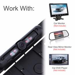 2019 formato de vídeo Carro dvr DC 12 V Auto Cartron UE Placa de Licença Quadro de Visão Traseira Da Câmera HD Visão Noturna Câmera de Visão Traseira Reversa com 4 IR luz