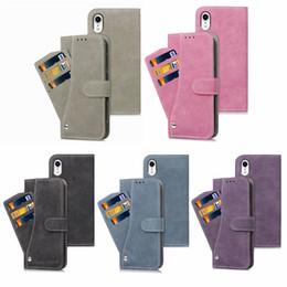 2019 carteira flip destacável Para o iphone 10 x carteira de luxo destacável flip case para 6 6 s 7 8 plus x xr samsung galaxy s8 s9 note8 note9 desconto carteira flip destacável