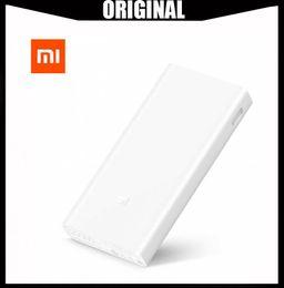 банки оптовых телефонов Скидка Оптовая Mi Xiaomi Power Bank 20000 мАч 2C Двухстороннее быстрое зарядное устройство QC3.0 5 В / 9 В / 12 В Dual USB Внешняя батарея для телефона таблетки