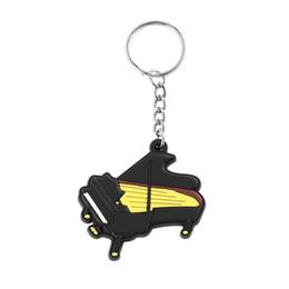 Bouchons de clés en silicone en Ligne-À la mode Silicone Piano Forme Porte-clés Porte-clés Caps Belle Titulaire Pendentif Cadeau Pour Hommes Femmes Porte-clés