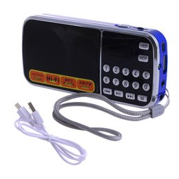 Alto-falante digital micro on-line-Mini Receptor LCD Digital FM AM Speaker Rádio USB Micro SD Cartão TF Mp3 Player 77UA