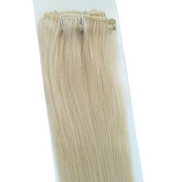 """Clipe de cabelo platina on-line-Indiano remy cabelo Clipe em Extensão Do Cabelo Humano 14 """"-24"""" 7 pcs set 70g Platinum Blonde Cor 60 #"""