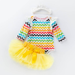 b24ac36a2e59 Easter newborn baby girl clothes lace baby romper +Tutu skirts+crown 3pcs Newborn  Outfits baby infant girl designer clothes A3312