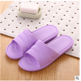 d7ac87d12a1ad5 KH18 Bathroom slippers female summer home non-slip soft thick bottom couple  home indoor bath plastic sandals and slippers men