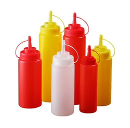 Argentina 8 oz. 12 onzas. 16 onzas. 24 oz. Dispensador de condimentos de botella plástica de cocina para ensalada Salsa de tomate Vinagre de aceite Salsa de tomate Vinagrera de salsa KB901 cheap ketchup dispenser bottle Suministro