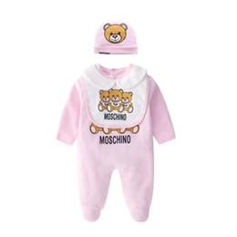 2019 felpe con cappuccio Baby tuta 3 pezzi set vestiti per bambini in cotone primavera e autunno carino abito maniche lunghe veste pagliaccetto del bambino
