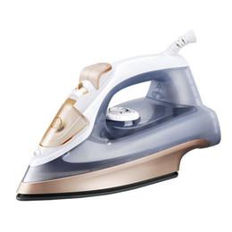 Argentina TECHSTABLE 2000W Portátil Hierros eléctricos de mano para la ropa Vaporizador de ropa Hogar Cerámica Placa 260ML 5 Gear 220V Suministro