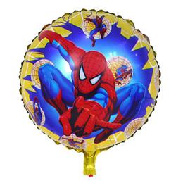 Suministros para la fiesta de los vengadores online-Niños vengadores globos juguetes inflables cumpleaños fiesta de cumpleaños globos decoraciones suministros burbuja de helio lámina globo 18 pulgadas