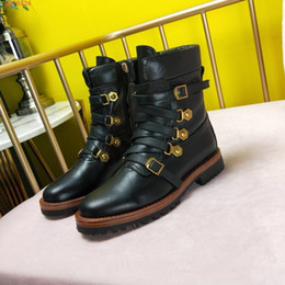 3d79ed8f2cb78 Discount italian leather boots women - Imported top grade cowhide Italian  leather outsole Hardware ring buckle