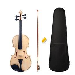 partes de violino usadas Desconto Acústica Estudante adulto Full Size 44 cordas de violino superfície lisa Polido Violin Bow Box Set Novo