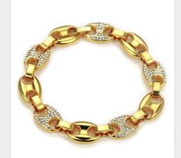 2019 gold-diamant-tennis-armbänder Neues modisches elliptisches Armband mit Diamanten und Hip-Hop-Armbändern in Europa und Amerika rabatt gold-diamant-tennis-armbänder