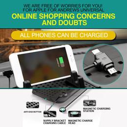 2019 usb-autohalterung Universal-Autohalterung Armaturenbrett-Ständer USB-Halterung Magnetisches Ladegerät Rutschfeste Silikonauflage günstig usb-autohalterung