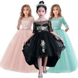 7b63ed737b2a New Kids Dresses For Girls Child Princess Lace Wedding Costume 11 12 13 14  Year Dress Children Clothing Baby Girls Clothes Q190522