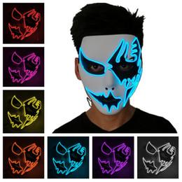 led luce fantasma Sconti Maschera luminosa a LED Maschere luminose di Halloween Maschera fantasma a luce fredda Maschere per feste in costume Cosplay Maschera a LED T2I5113