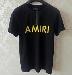 Wholesale AMIRI Abito da jogging uomo lusso diamante design Tshirt moda t shirt donna divertente magliette polo ralph hombres top e magliette in cotone