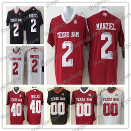 04e6f872e Texas A&M Aggies Custom Any Name Number Stitched Black Red White #2 Johnny  Manziel 40 Von Miller NCAA College Football Jersey
