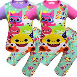 dfafe25206c1d costume pantalon pour garçon Promotion 8 Style garçons filles bébé requin  pyjamas 2019 nouveaux enfants requin