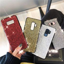 diamante sparkle telefone casos Desconto Luxo glitter designer phone cases capa coque para samsung galaxy s8 s9 s10 mais s10e note9 note8 case capa diamante faísca phone case