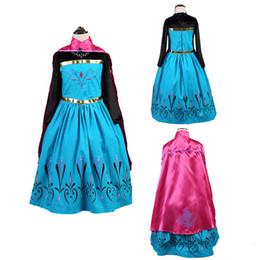 königin mädchen kleider Rabatt Baby Mädchen Kleid mit Mantel Weihnachten Snow Queen Princes Cosplay Kostüm Sommerkleider für Geburtstagsfeier A-793