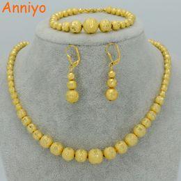 pulseiras de ouro 24k china Desconto Anniyo conjunto Beads Colar Brincos Bracelet Jóias, Bola de Ouro África Cor / / Oriente Médio Árabe / sets etíopes # 041602 V191220