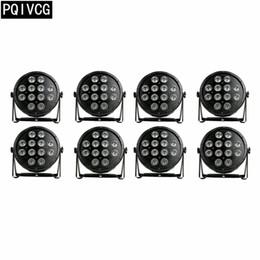 2019 luz verde mini pc Novo! 8 pcs / 12x12 w led par luz rgbw 4em1 plana par luz dmx equipamento de iluminação de palco profissional