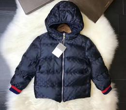 Revestimento reversível on-line-Adolescente moda inverno reversíveis casacos para baixo crianças grandes da menina do menino encapuzados casuais outwear crianças varejo tamanhos de roupas 90-150